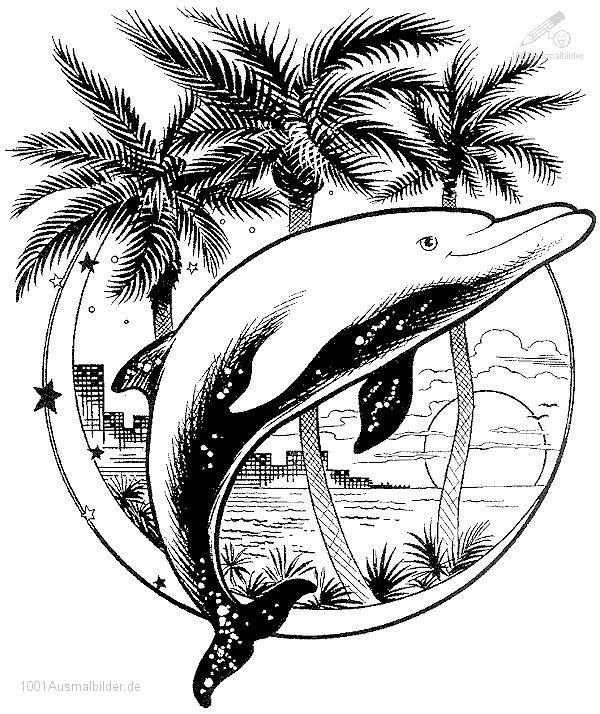 Malvorlage Delphin