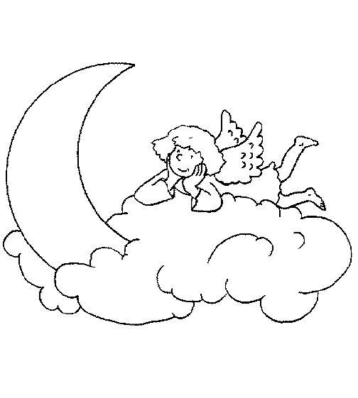 malvorlagen engel auf wolke
