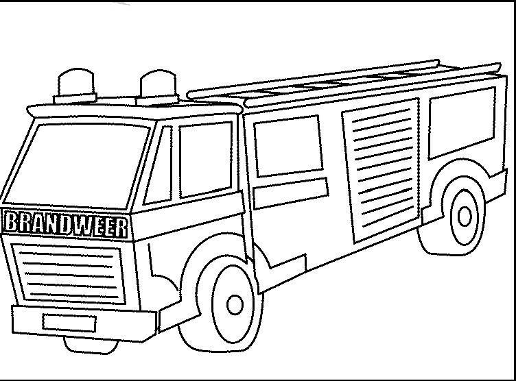 malvorlage: malvorlage-Feuerwehrauto-1