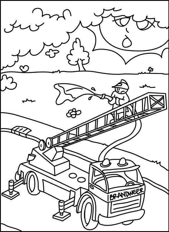 malvorlage: malvorlage-Feuerwehrauto-2