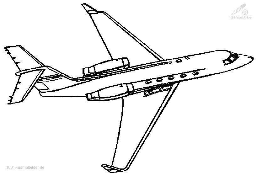 malvorlage flugzeug jet
