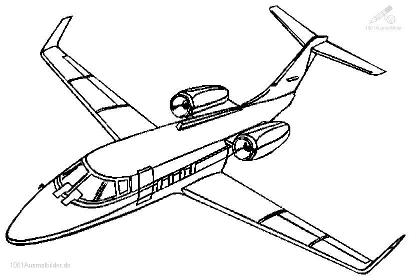 Malvorlage Flugzeug Boeing