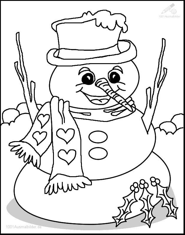 1001 Malvorlagen Weihnachten Schneemann Malvorlage Schneemann
