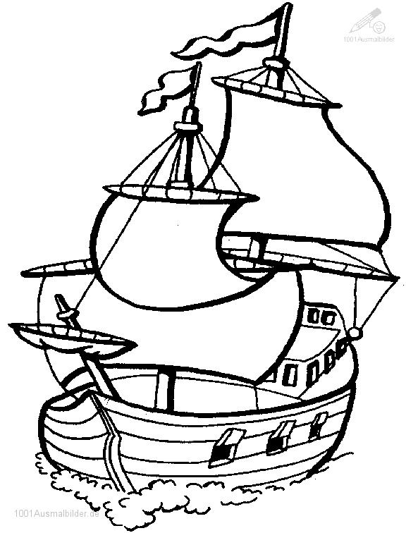 malvorlage: malvorlage-Segelboot-1
