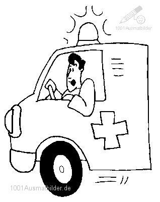 Malvorlage Ambulanz