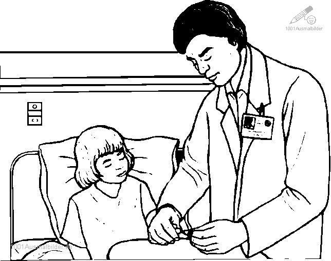 Malvorlage Arzt