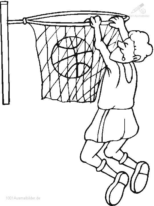 Malvorlage Basketball
