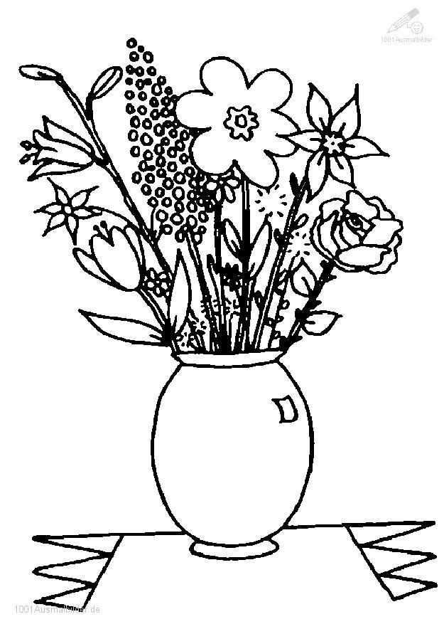 1001 Malvorlagen Pflanzen Blumen Blumen Malvorlage
