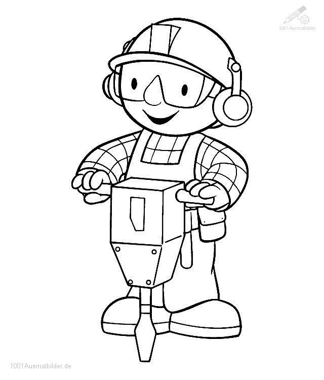 Malvorlage Bob der Baumeister
