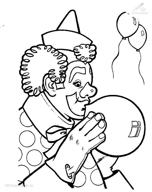 malvorlage: malvorlage-clown-15