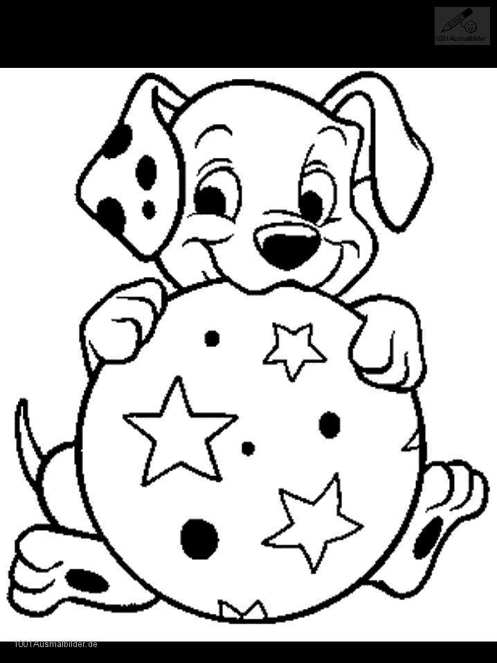 Malvorlage Dalmatiner