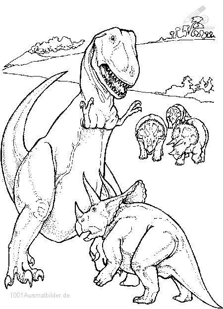 malvorlage: malvorlage-dinosaurier-14