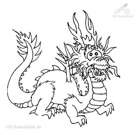 Malvorlage Drachen
