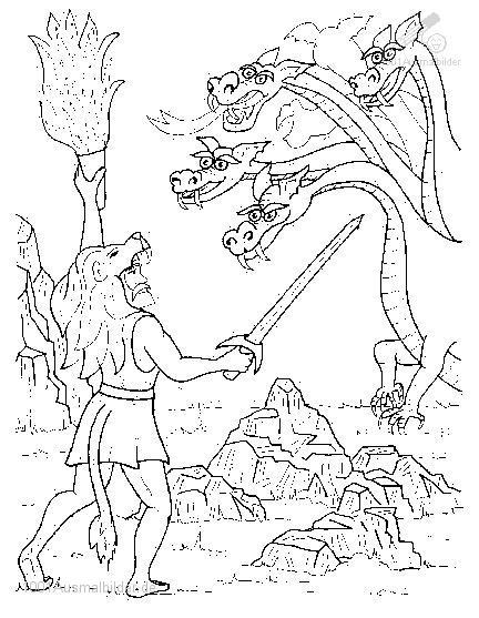 Ausmalbilder Jäger Zum Ausdrucken: Drachen Und Andere Fabelwesen