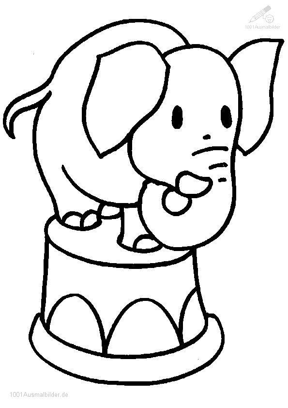 malvorlage: malvorlage-elefant-1