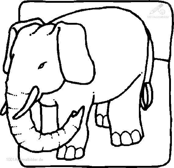 Malvorlageer Elefant
