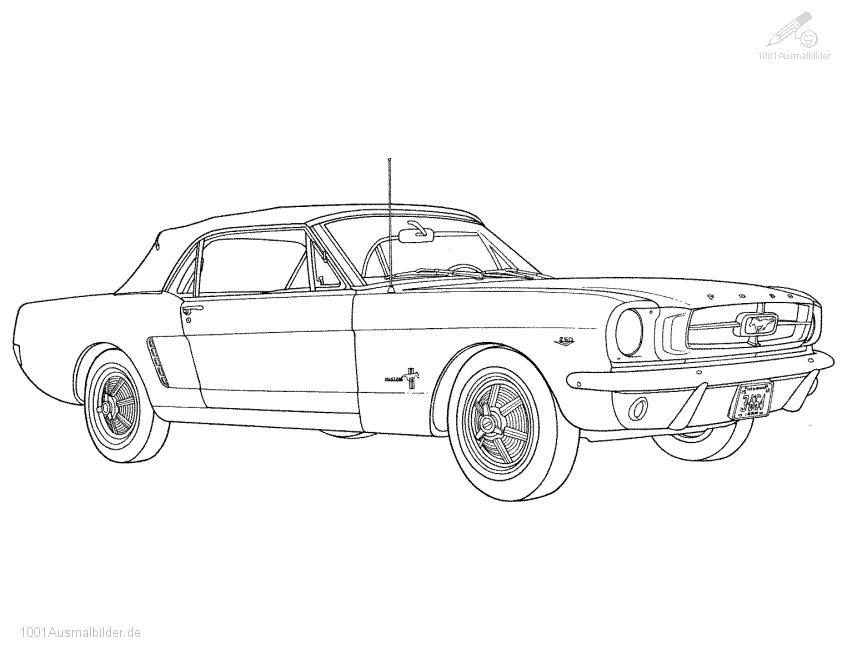 Malvorlage Ford Mustang