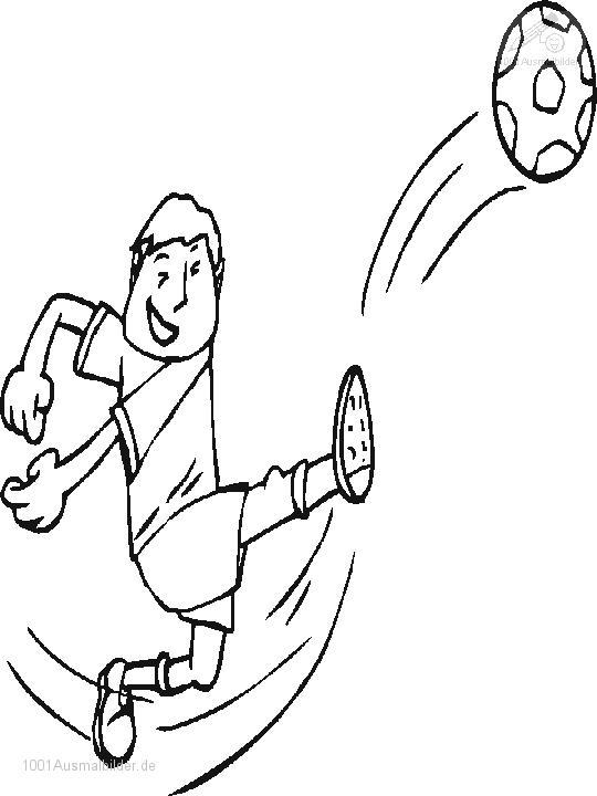 Malvorlage Fussball