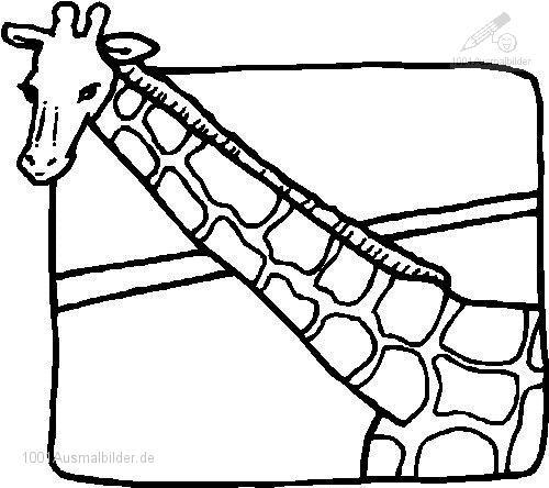 malvorlage: malvorlage-giraffe-20