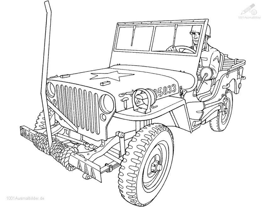 Malvorlage Jeep