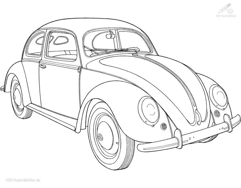 Malvorlage Volkswagen Kafer