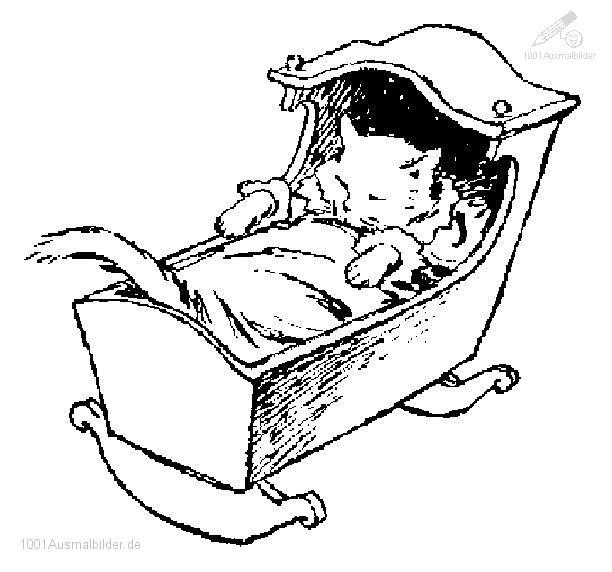malvorlage katze schlaft
