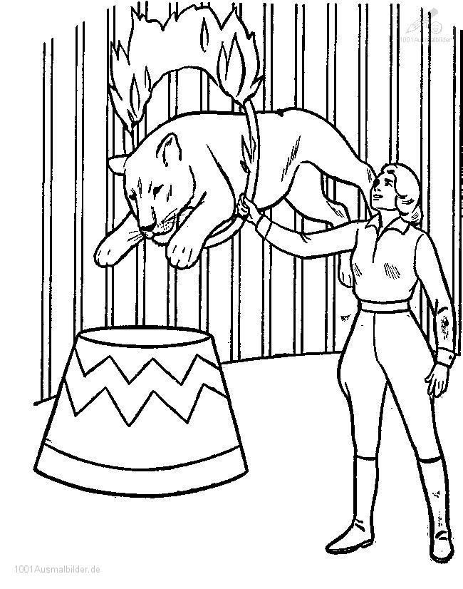 Malvorlage Zirkus Lowe