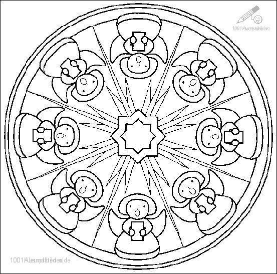Malvorlage Mandala