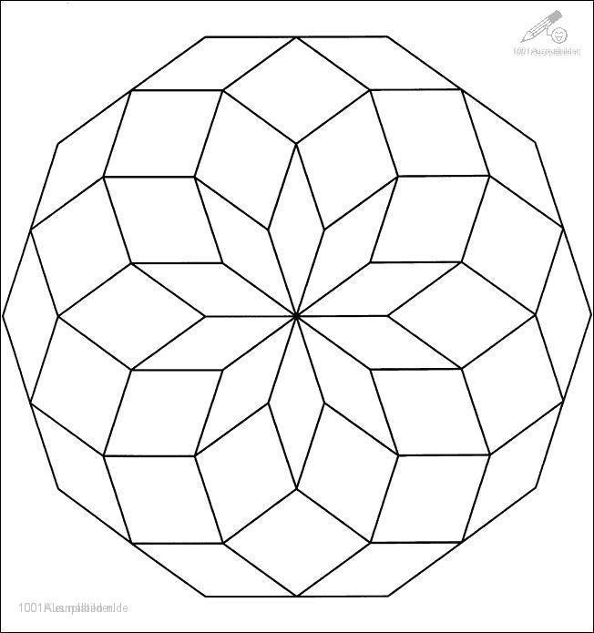 1001 Malvorlagen Phantasie Mandala Mandala Malvorlage