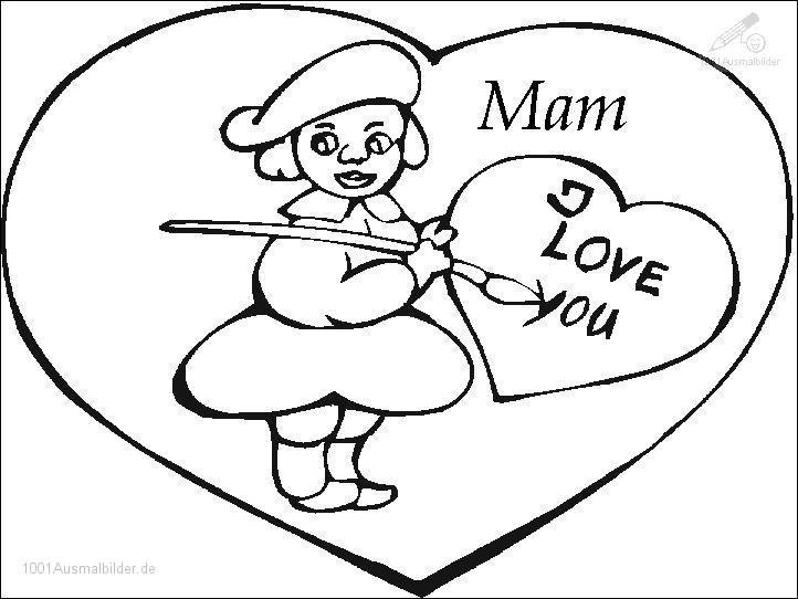 Malvorlage Muttertag