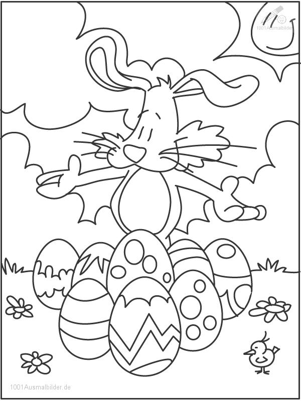 Osterhasen Malvorlage