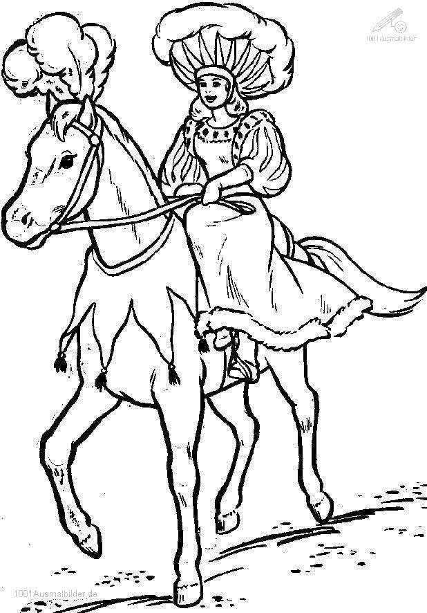 Malvorlage Zirkus Pferd