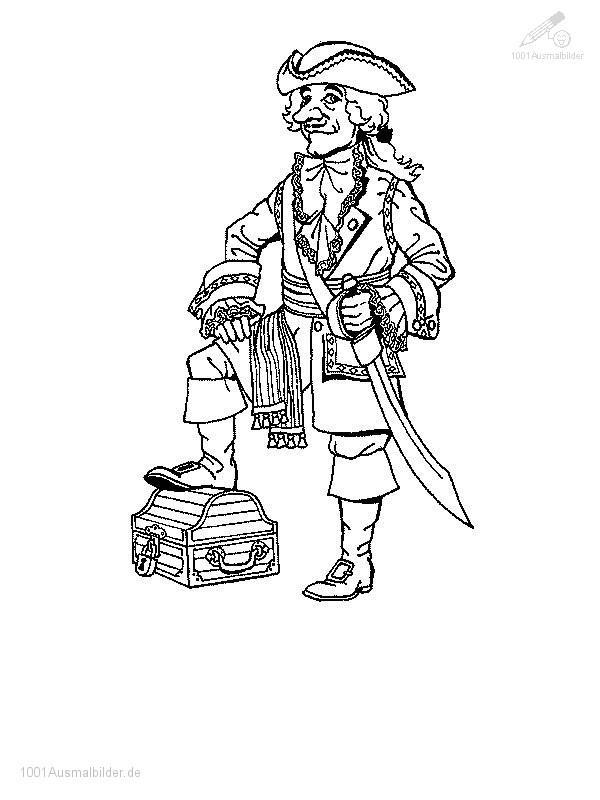 Malvorlage Pirate