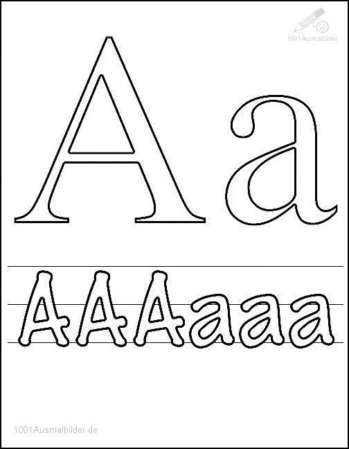 Malvorlage Schriftzeichen A