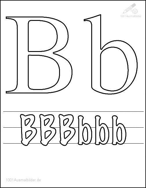Malvorlage Schriftzeichen B