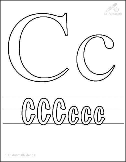 Malvorlage Schriftzeichen C