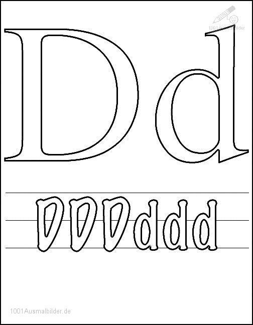Malvorlage Schriftzeichen D