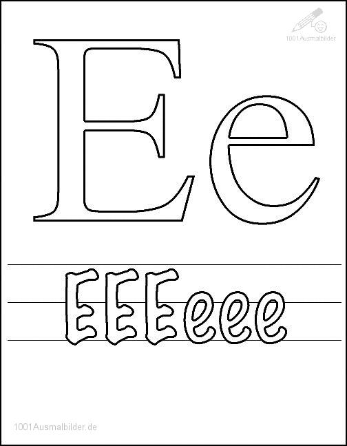 Malvorlage Schriftzeichen E