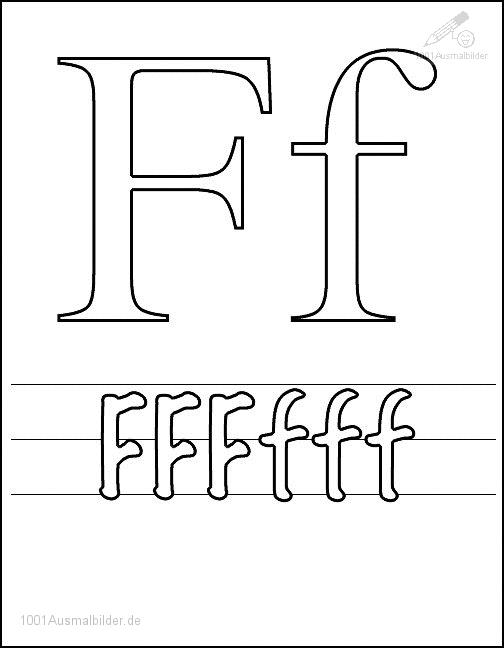 Malvorlage Schriftzeichen F