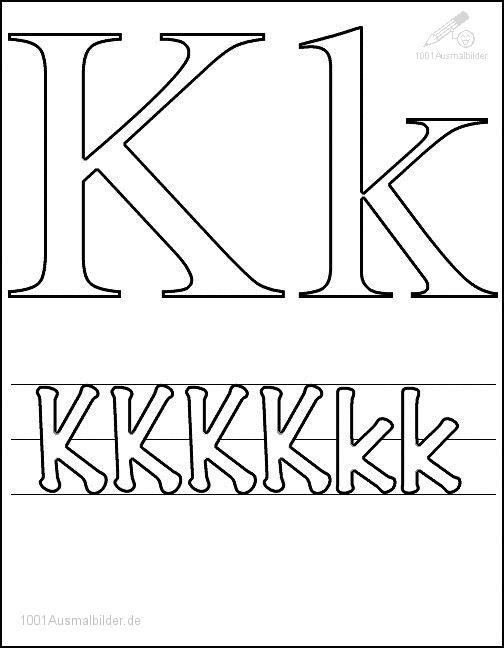 Malvorlage Schriftzeichen K
