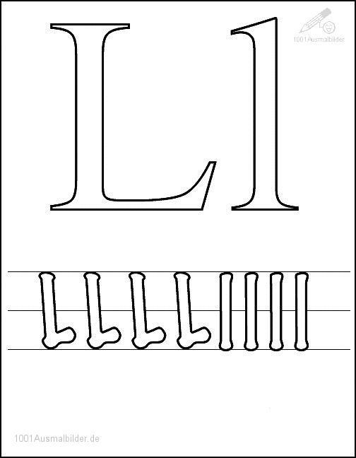 Malvorlage Schriftzeichen M