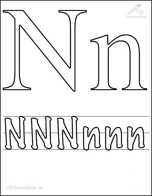 Malvorlage Schriftzeichen N