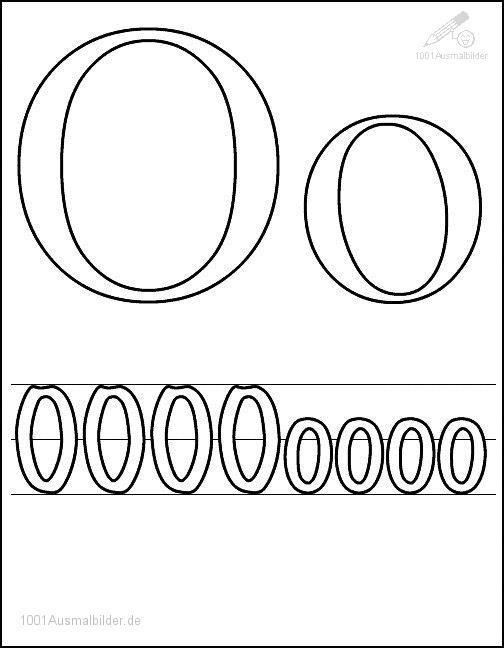 Malvorlage Schriftzeichen O