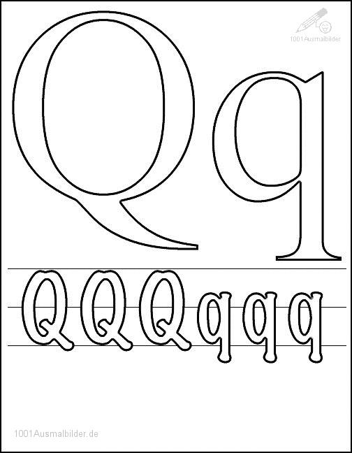 Malvorlage Schriftzeichen Q