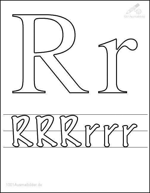 Malvorlage Schriftzeichen R