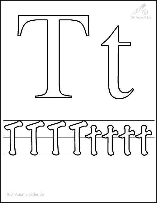 Malvorlage Schriftzeichen T