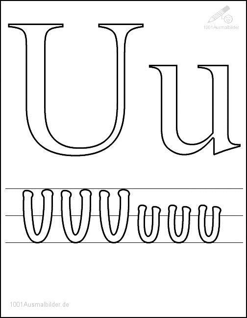 Malvorlage Schriftzeichen U