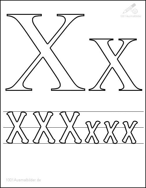 malvorlage: malvorlage-schriftzeichen-x