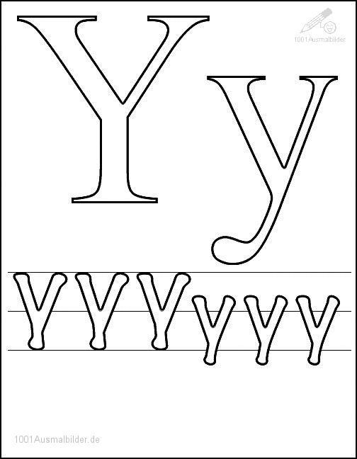 Malvorlage Schriftzeichen Y
