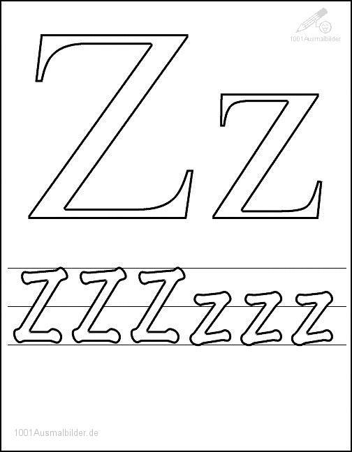 Malvorlage Schriftzeichen Z